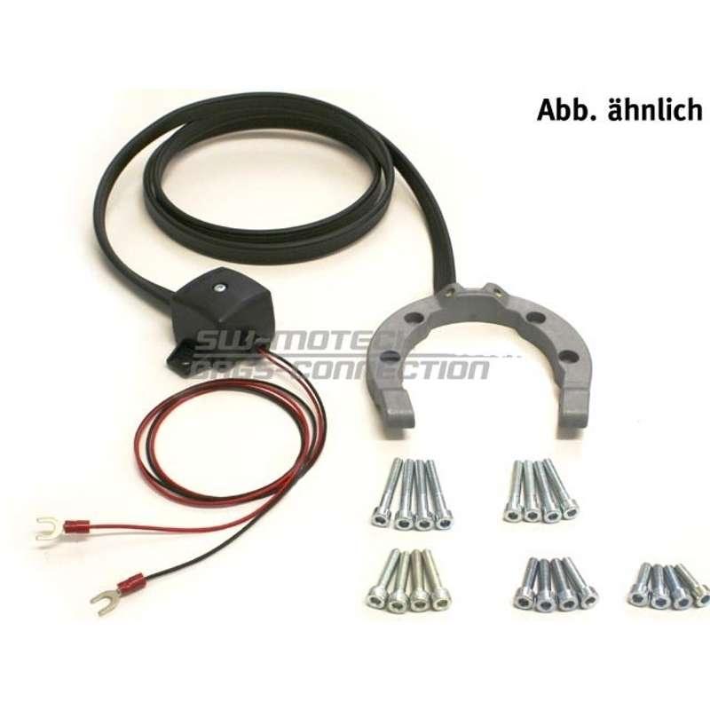 SW-MOTECH Bague réservoir électrique Quick-Lock standard, gris